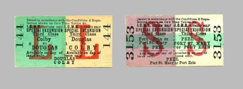 IMR and Manx Northern Railway tickets /& wagon labels from 1870s-1960s rare types