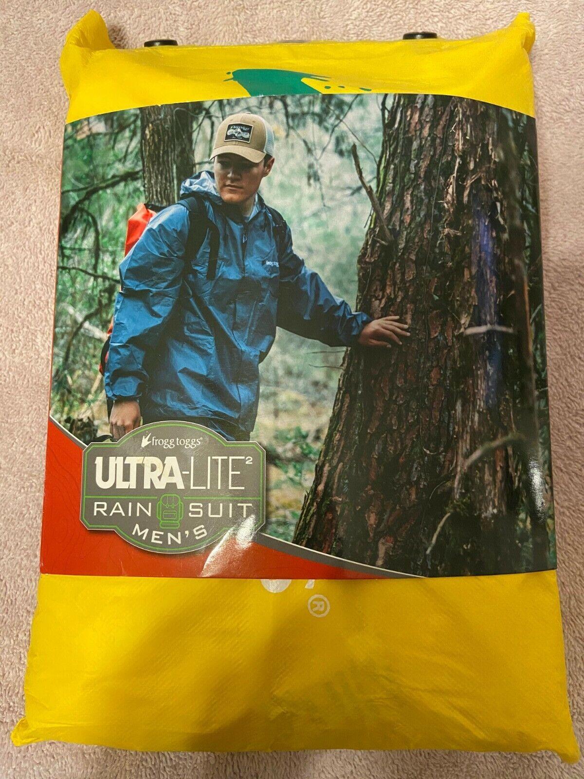 Frogg Toggs Men UltraLite2 Rain Suit w//Storage Bag Yellow UL12104-08 CHOOSE SIZE