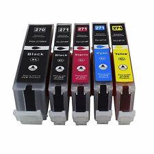 5Pk PGI270XL CLI271XL Ink For Canon Pixma MG5720 MG5721 MG5722 MG6820 MG6822