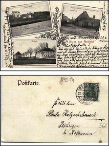 1913-Stempel-REIFLAND-a-Mehrbild-AK-Schule-Bahnhof-Dorfplatz-Gasthof-Haubold