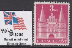 GERMAN-BIZONE-American-amp-Brit-occ-Castles-3Mk-Mi-99-IIwg-perf-11-cv-240-MNH