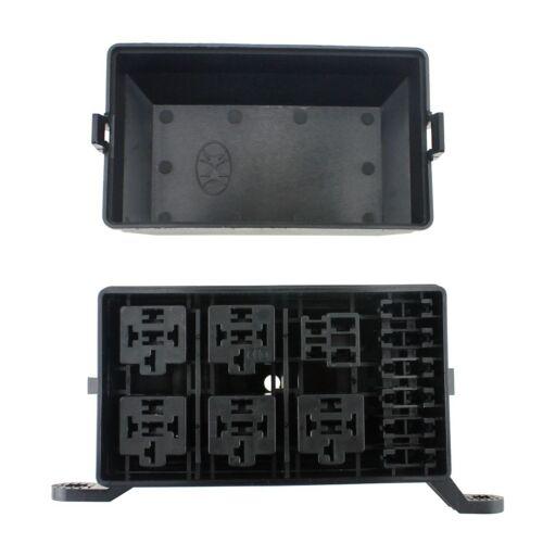 Car 6-Way 12V 24V Fuse Holder Box Block Panel Board Circuit Blade 6 Relay Socket