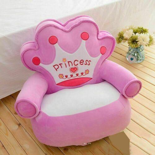 Only Cover Kids Sofa Cartoon Couch Children Chair Crown Seat Armchair Cushion
