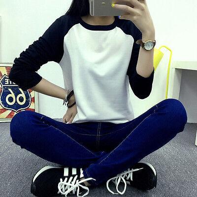 New Women Loose Long Sleeve Cotton Casual Blouse Shirt Tops Fashion T-shirt
