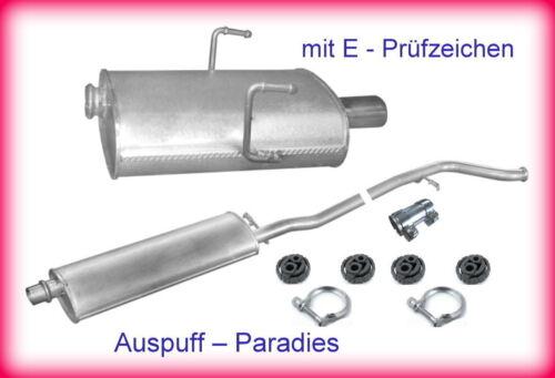 Kit 8C Auspuffanlage Abgasanlage Auspuff Peugeot 406 2.0 16V Coupé ab 01//1999