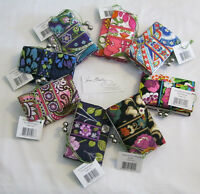 Vera Bradley Small Kisslock Clutch Wallet Coin For Purse Tote Backpack Bag