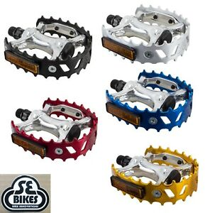 """SE RACING BEAR TRAP BLUE 9//16/"""" BICYCLE PEDALS"""