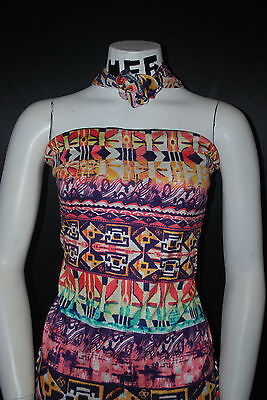Rayon Stretch Jersey Knit Fabric Super soft  Beautiful Tribal Print   8.5 oz