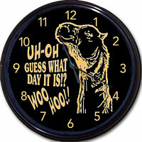 Hump Day Camel Wall Clock Uh-oh - Guess What Day It Is - Woo Hoo 10