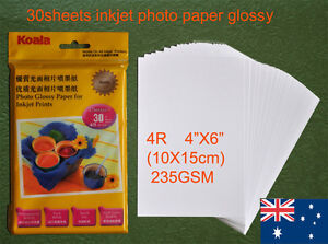 30-sheets-4R-102-152-mm-235GSM-Inkjet-Glossy-Photo-Paper