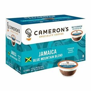 Cameron's Coffee Single Serve Pods Jamaica Blue Mountain 12 Ct (Pack of 1)