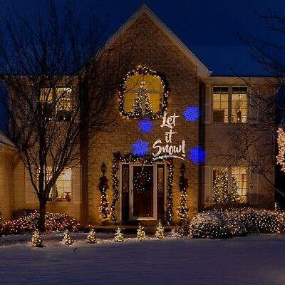 Gemmy Christmas Lights.Gemmy Led Lightshow Projection Plus Let It Snow Christmas Light Blue White 86786857656 Ebay