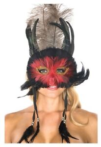 Be Wicked Adult Feather Costume Face Mask