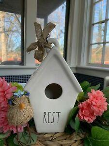 ⭐️⭐️NEW Rae Dunn Birdhouse REST Bird House Slant Roof LL By Magenta⭐️⭐️