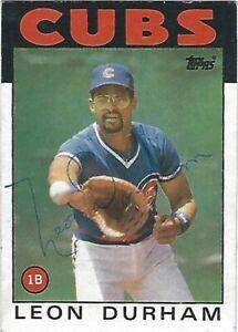 Autographed-Signed-1986-Topps-460-Leon-Durham-Chicago-Cubs-Tough-Signature