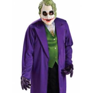 1c28ff4ca3a3 Details about The Joker Mens Fancy Dress Batman Dark Knight Villain Adults  Halloween Costume
