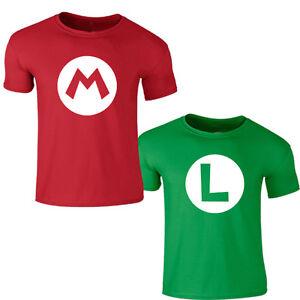 8ceba18e9b14b La imagen se está cargando Mario-Bros-Camiseta-Rojo-Luigi -Juegos-Retro-Super-