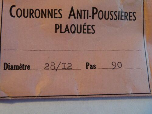 COURONNE DE REMONTOIR ANTI POUSSIÈRE PLAQUÉE POUR MONTRE DE POIGNÉE