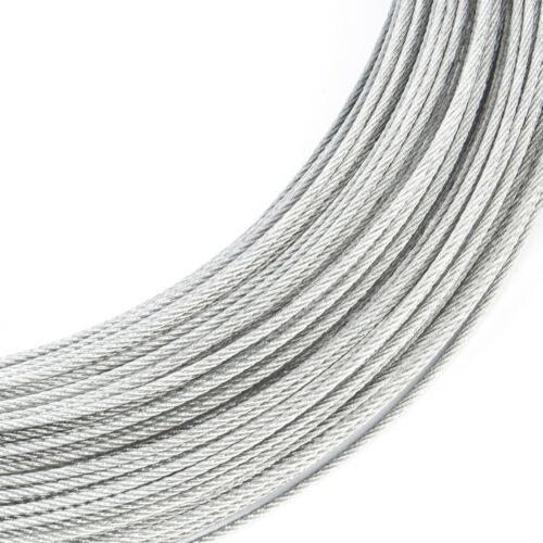 GALVANIZED STEEL CABLE stranded wire rope weaved cord 1m 5m 10m 20m 30m 50m 100m