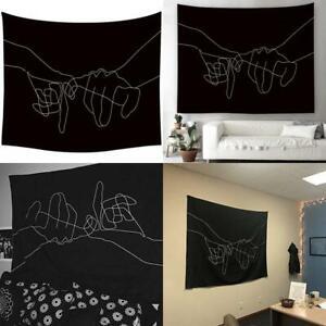 Black White Pinky Swear Love Wall Art Hanging Tapestry, Vibrant Stylish Living R