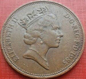Great-Britain-Coin-2-Pence-1985-Elizabeth-II-Bronze-ICH-DIEN-km-936