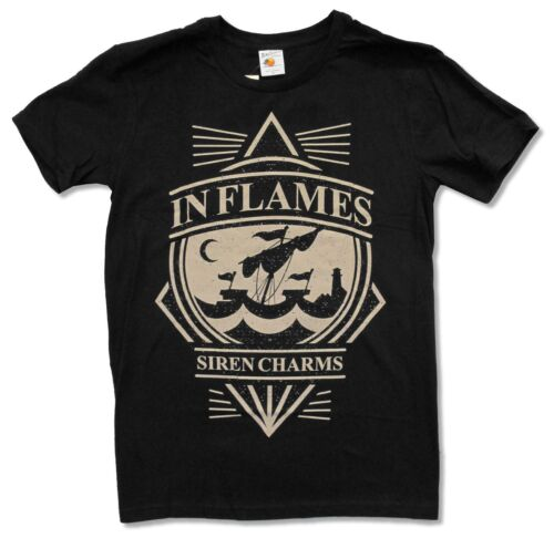 """IN FLAMES /""""SIREN CHARMS/"""" BLACK T SHIRT NEW OFFICIAL ADULT METAL"""