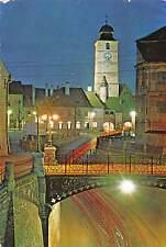 Romania Sibiu Illuminated Bridge Tower Clock