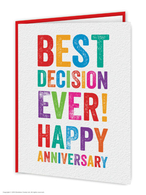 Anniversary Greetings Card Funny Comedy Humour Cheeky Novelty Joke Husband Wife
