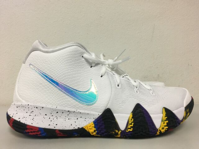 309aef8d37ff1 Nike Mens Kyrie 4 NCAA March Madness SNEAKERS Sz 12 White Basketball Shoes