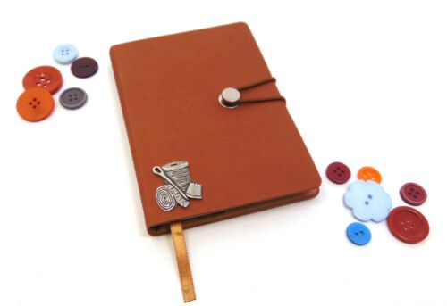 Sewing Design Tan A6 Notebook Sewing Journal Sewing Planner Dressmaker Xmas Gift