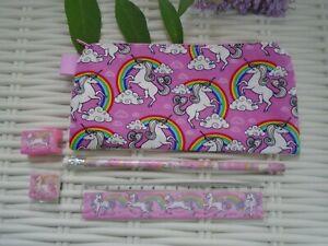 Rainbow-Unicorn-Pencil-Case-amp-Stationery-Set-Unicorns-Rainbows-Stocking-Filler