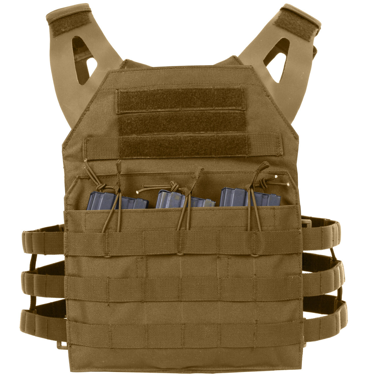 Tactical light weight plate carrier vest modular coyote brown redhco 55892