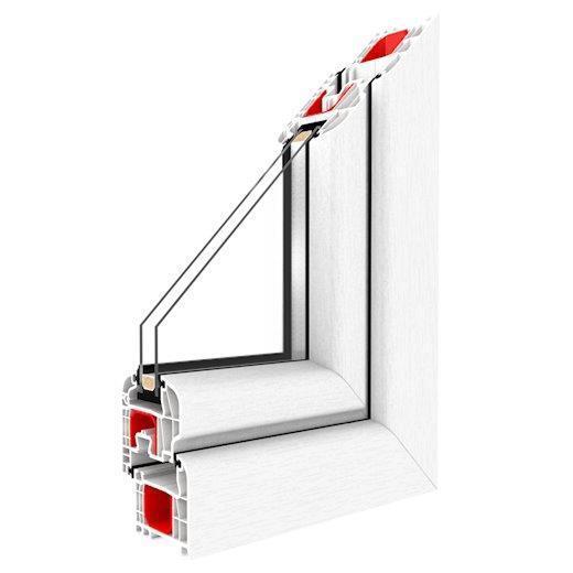 Kunststofffenster Drutex IGLO 5 Fenster 5-Kammer Dreh Kipp Weiss