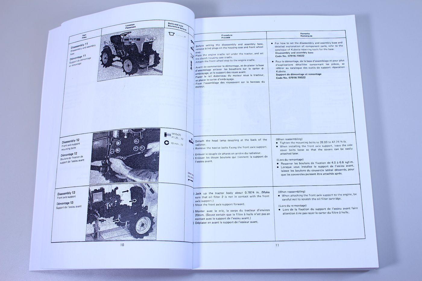Kubota B5100 B6100 B7100 Tractor Service Repair Manual Shop Book Overhaul |  eBay