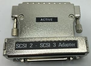 SCSI-2-SCSI-3-Active-Adapter-MD68M-to-MD50F-New-Free-Shipping