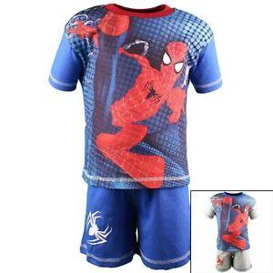 Spiderman 2 Tlg. T-shirt & Shorts Sommer Set Gr.92-128 Eine GroßE Auswahl An Waren