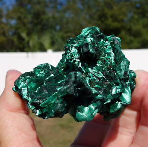 Amazing-Super-Green-MALACHITE-All-Natural-Formation-FIBROUS-Crystal-Specimen