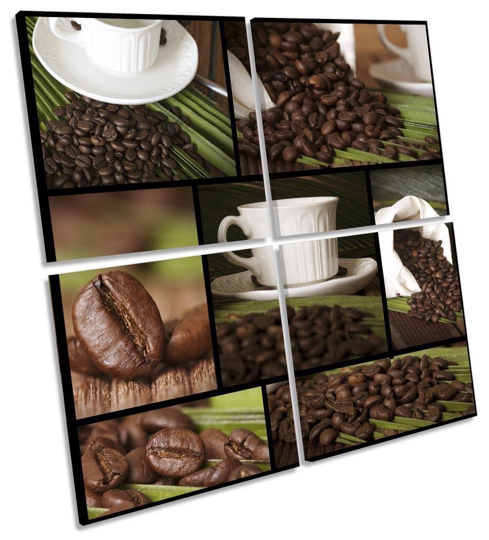 TAZZE da caffè collage caffè foto art. a muro Multi quadrato