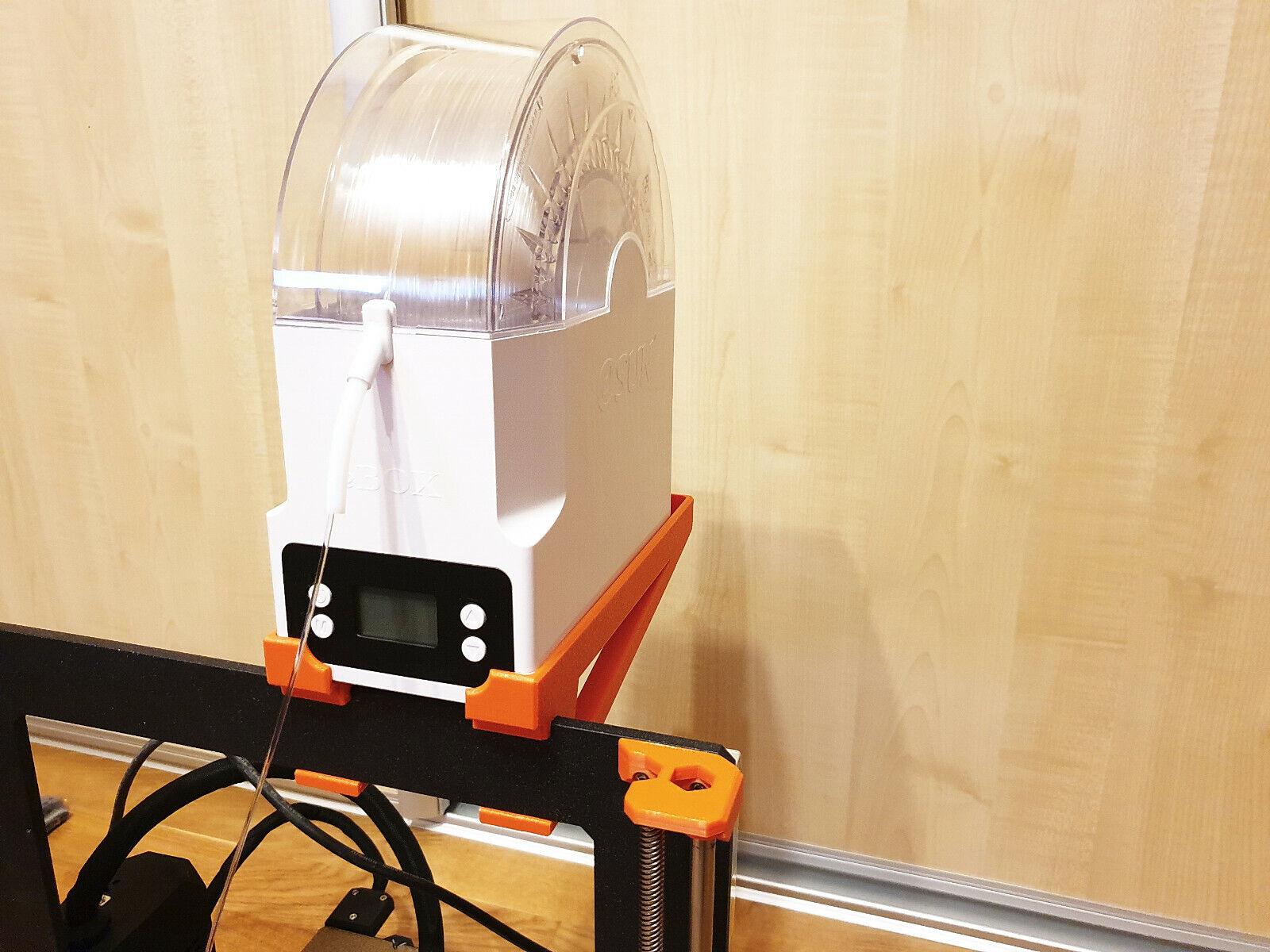Prusa i3 MK3s filament dryer holder for eSun eBOX