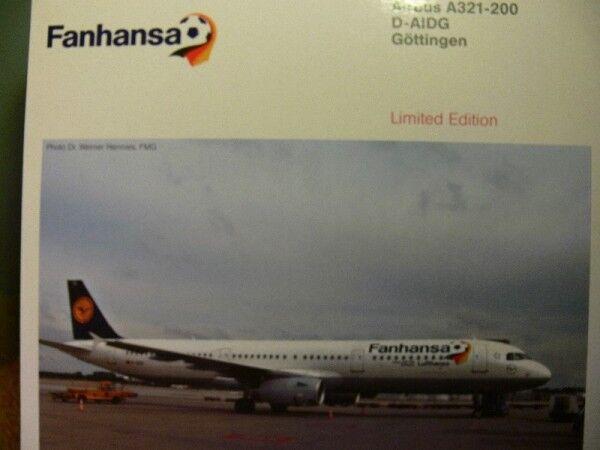 1 200 Herpa Lufthansa Airbus A321-200 Fanhansa 556750 SONDERPREIS  STATT