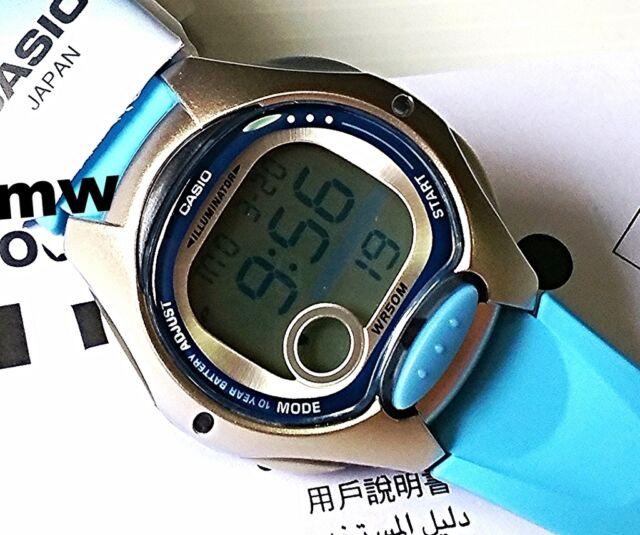 Casio Ladies Kids Digital Blue Resin Alarm Quartz LW-200 LW-200-2B Dual Time New