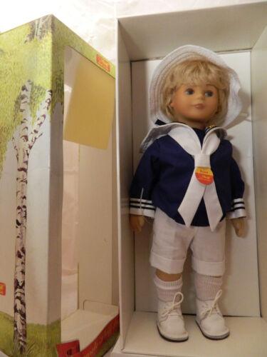 42 cm Stoffpuppe 9210/42 1987 Steiff Puppe Bernd Nr