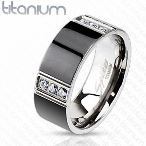 Ring titan herren schwarz zwölf strass