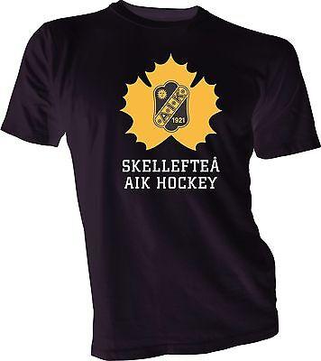 Skellefteå AIK SHL Sweden Professional Hockey Gray T-Shirt NEW Swedish Europe