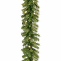 National Tree Norwood Fir Garland With 50 Battery Operated Soft White Led Lights on sale