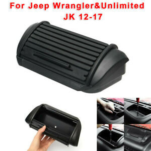ABS-Dashboard-Console-Storage-Box-Holder-For-Jeep-Wrangler-amp-Unlimited-JK-12-17
