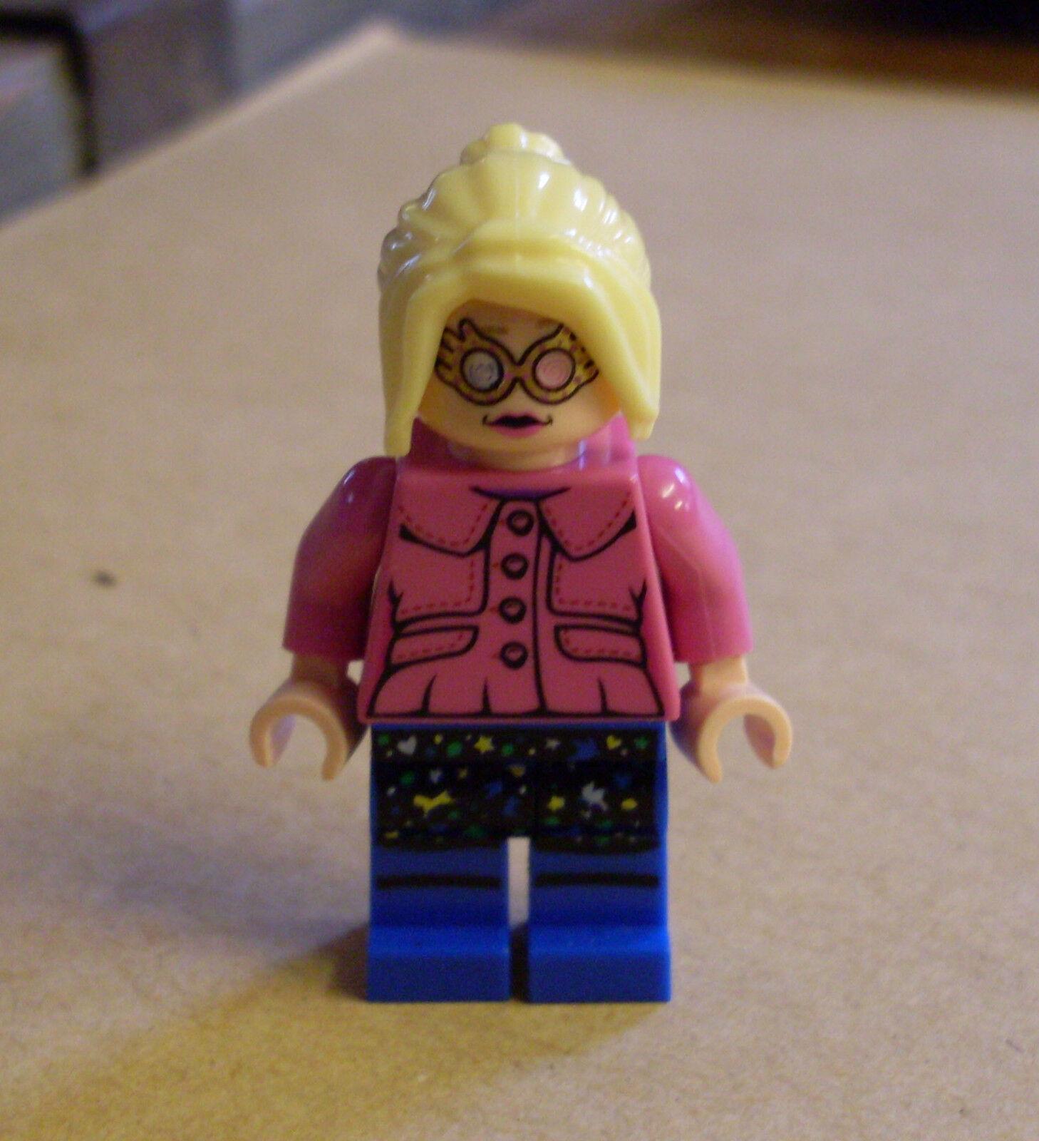 Lego Harry Potter Figur - Luna Lovegood ( ( ( Frau Rosa blau Mond ) Neu 1aa015
