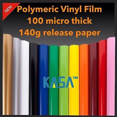 1.2m x 9m KASA Plotter Cutter VINYL Polymeric ROLL PVC DESIGN FILM 140g Paper