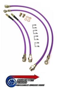 Drift-Spec-Stainless-Braided-Brake-Lines-Hoses-For-R33-GTS-T-Skyline-RB25DET