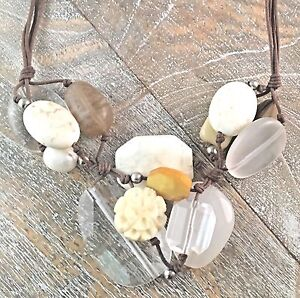 Silpada-925-Sterling-Silver-Cluster-Mixed-Stone-Pendant-Necklace-N2201-RETIRED
